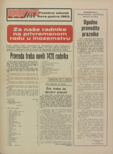 Moslavački list 1983